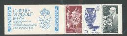 SUEDE 1972 - CARNET  YT C757 - Facit H262 - Neuf ** MNH - 90è Anniversaire De Sa Majesté Le Roi Gustave VI Adolphe - Carnets
