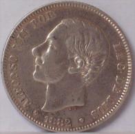 SPAGNA 2 PESETAS 1882 - SILVER ARGENTO - Spagna