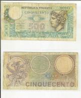 500 Lire Mercurio 14/02/1974 - 500 Lire