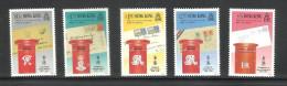HONG KONG, HONGKONG, 1991, 150th Anniversary Of Hong Kong Post Office, Set 5 V,  MNH, (**) - Post