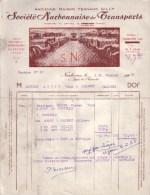 AUDE - NARBONNE - SOCIETE NARBONNAISE DE TRANSPORTS , ANCIENNE MAISON FERNAND GILLY - 1957 - Transport