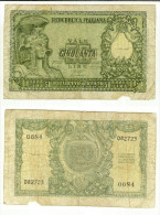 50 Lire Italia Elmata Decr. 31/12/1951 (Bolaffi-Cavallaro-Giovinco) - 50 Lire