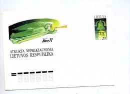 Lettre Entiere 20 Cloche - Lithuania