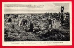 54. Longwy-Haut. Vue Générale Après Le Bombardement. Feldpoststation Nr 104 Octobre 1916 - Longwy