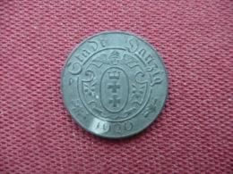 ALLEMAGNE DANZIG Jeton De Nécessité De 10 Pfennig Très Rare - Noodgeld