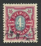 Sweden, 4 O. 1892, Sc # 55, Mi # 53, Used - Oblitérés