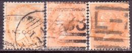 INDIA 1865 SG #61-63 2a Used Wmk Elephants´ Head All 3 Shades - 1858-79 Compagnia Delle Indie E Regno Della Regina