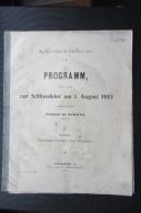 Rare Brochure  Lycée De Bouxwiller 1903 Programme  Alsace - Livres, BD, Revues