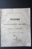 Rare Brochure  Lycée De Bouxwiller 1904 Programme  Alsace - Livres, BD, Revues