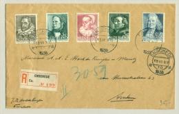 Nederland - 1938 - Zomerserie Op R-brief Van Enschede Naar Arnhem - Brieven En Documenten