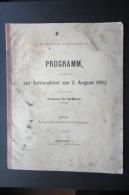Rare Brochure  Lycée De Bouxwiller 1902 Programme  Alsace - Livres, BD, Revues