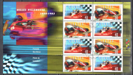 Canada 1997 - Formula One - Sc # 1647-48 Sheet- Mi. M/s 22 - Used Gestempelt - Blocks & Kleinbögen