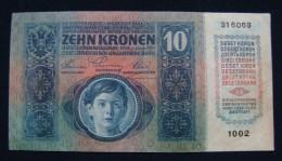 AUSTRIA 10 KRONEN 1915 PICK-19. XF - AUNC. SERIAL# 316069 1002 - Austria