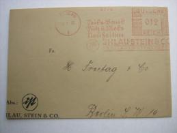 1935 , Breslau  , Freistempel  Auf  Briefvorderseite - Briefe U. Dokumente