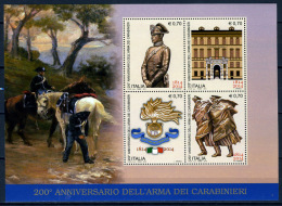 "2014 -  Italia - Italy - ""il Senso Civico"" Dedicati All'Arma Dei Carabinieri  -  Mint - MNH - 2011-...: Mint/hinged"