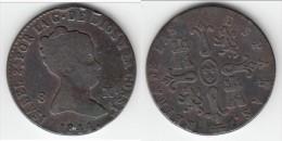 **** ESPAGNE - SPAIN - 8 MARAVEDIS 1844 AQUEDUCT - ISABEL II **** EN ACHAT IMMEDIAT - [ 1] …-1931 : Royaume