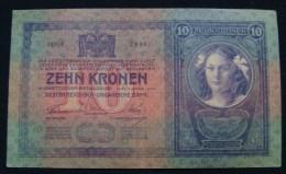 AUSTRIA 10 KRONEN 1904 PICK-9. XF+. NO PINHOLES SERIAL# 129130 2986 - Austria