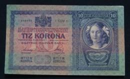 AUSTRIA 10 KRONEN 1904 PICK-9. XF. NO PINHOLES, CRISP PAPER, SERIAL# 018496 2781 - Austria