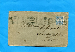 Marcophilie-lettre-HONGRIE-  Cad 1909-Budapest 72A > Françe Afft   StampsN° 47--25 Filler - Postmark Collection