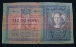 AUSTRIA 10 KRONEN 1904 PICK-9. VF., CRISP PAPER, SERIAL# 542178 2971 - Autriche