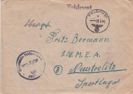 Feldpost WW2: To M.E.A. In Neustrelitz From 7. GroBe Kraftwagenkolonne Fur Betriebsstoff Nachschub-Kolonnen-Abteilung 54 - Militaria