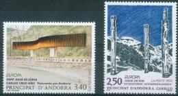 Andorra (French Adm.), EUROPA 1993, Modern Art, 1993, MNH VF  A Pair - French Andorra