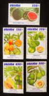 FRUITS 1996 - NEUFS ** - YT 1428/32 - MI 1761/65 - Uganda (1962-...)