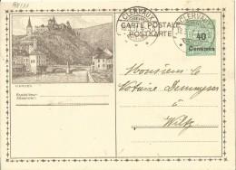 Carte Correspondance - Entier - Stationery - No. 98.11 Vianden - De Clervaux à Wiltz 1931 - Stamped Stationery
