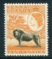 Kenya, Uganda & Tanganyika 1954-59 QEII Definitives - 20c Lion MNH - Kenya, Uganda & Tanganyika