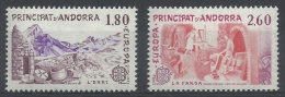 Andorra (French Adm.), EUROPA 1983, Great Works, 1983, MNH VF  A Pair - Unused Stamps
