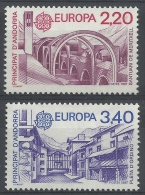 Andorra (French Adm.), EUROPA 1987, Modern Architecture, 1987, MNH VF  A Pair - Unused Stamps