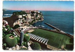 Cpsm 10,5x15     Principauté De Monaco   Le Rocher Et Le Stade Louis II - Monaco