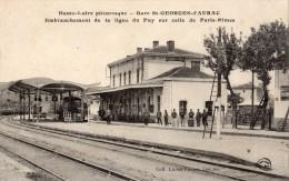 SAINT-GEORGES-D'AURAC LA GARE EMBRANCHEMENT DE LA LIGNE DU PUY SUR CELLE DE PARIS NIMES - France