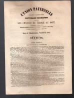 ASSURANCE CONTRE Les Chances Du Tirage Au Sort (1853, Valence, Gers ) (SERVICE MILITAIRE) (PPP2606) - Historical Documents