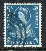 Kenya, Uganda & Tanganyika 1960-62 QEII Definitives - 5c Sisal Used - Kenya, Uganda & Tanganyika