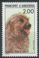 Andorra (French Adm.), Dog, Pyrenean Shepherd, 1988, MNH VF - Unused Stamps