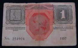 AUSTRIA 1 KRONE 1916 PICK- 20. F, SERIAL# 254924 1157. - Autriche
