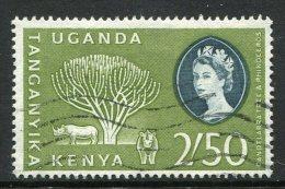 Kenya, Uganda & Tanganyika 1960-62 QEII Definitives - 2/50 Rhinos Used - Kenya, Uganda & Tanganyika