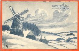 DK019,  * GLÆDELIG JUL * WINDMILL *  SENT 1913 - Non Classés