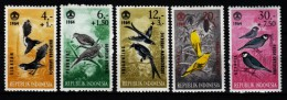 Indonesien 1965  MiNr. 460/ 464   * / Mh  Soziale Fürsorge: Vögel - Oiseaux