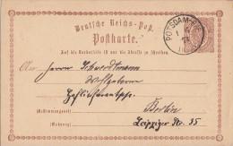 DR Ganzsache K1 Potsdam-Bhf. 1.6.74 - Deutschland
