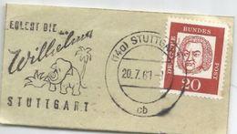ALEMANIA FRAGMENTO CON MAT STUTTGART ELEFANTE ELEPHANT - Elefantes