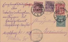 DR Ganzsache Dienst Zfr. Minr.23,29,66 Magdeburg 31.1.22 - Dienstpost