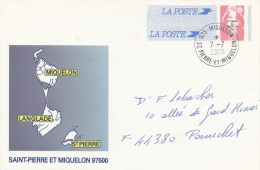 """Saint Pierre And Miquelon, Postal Stationery, """"Marianne"""" By Briat, 1996,  VFU And Scarce - Postal Stationery"""