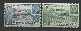 "Nle-Caledonie YT 246 Et 247 "" Oeuvres Coloniales "" 1944 Neuf** - Neukaledonien"