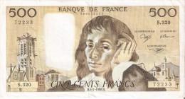 BILLETE DE FRANCIA DE 500 FRANCOS DEL 5-7-1990  (BANKNOTE) - 1962-1997 ''Francs''