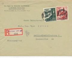 WARSCHAU - 1941 , R-Brief Nach Berlin  - Big Letter, Dispatch  = 4,20 EURO - Besetzungen 1938-45