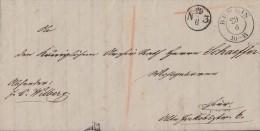 Ortsbrief K2 Berlin 29.6.1849 Mit Inhalt - Deutschland