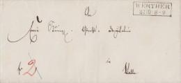 Brief R2 Werther 31.10. Gelaufen Nach Halle - ...-1849 Vorphilatelie