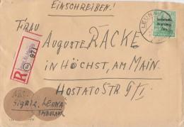 SBZ R-Brief EF Minr.197 Leuna 7.8.48 - Sowjetische Zone (SBZ)